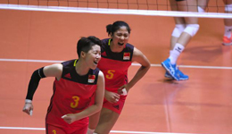 2017年瑞士女排精英赛 中国3-0横扫东道主瑞典