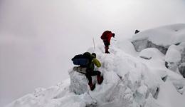 登山爱好者纪录玛纳斯鲁峰全景 玛纳斯鲁峰攀登高清照片