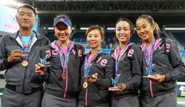 2017天津全运会网球决赛 天津2-0大胜浙江夺下女团冠军