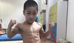 杭州体操比赛七岁孩子晾晒腹肌 七岁孩子八块腹肌夺金