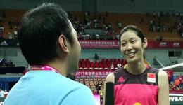 世界女排大奖赛朱婷 朱婷赛前表示没有压力