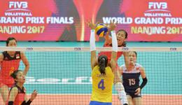 2017世界女排大奖赛总决赛 中国女排首战3-0横扫巴西女排