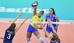 2017女排大奖赛总决赛 巴西女排击杀荷兰队保留晋级希望