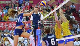 世界女排大奖赛巴西夺冠 巴西3-2险胜意大利夺金