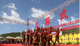 2018年全国群众登山健身大会(民乐站)暨扁都口油菜花节举行