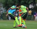 巴西国家队训练遇大雨 拉米出席发布会