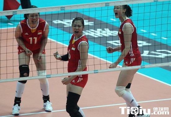 女排精英赛:中国队逆转比利时取胜