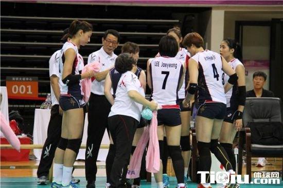 女排亚洲杯韩国3-0轻取哈萨克斯坦