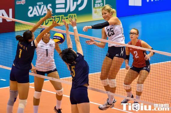 中国女排不敌美国 世界杯首遭败绩