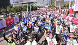 全民自行车积分赛崇明开赛 300名车手角逐总积分冠军