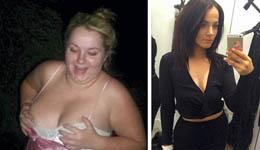 英女孩失恋暴食患病 积极跑步成健美选手