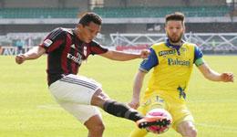 AC米兰客场0-0闷平切沃 中场两员大将伤退