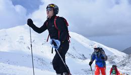 阿尔卑斯山挑战滑雪登山 中国首征瑞士登山赛
