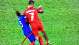 决赛夜法国废掉C罗+假摔骗点 在家门口输球还输人