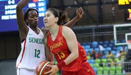 中国女篮37分屠非洲冠军 五人上双取奥运首胜