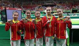 奥运会体操女团决赛落下帷幕 中国姑娘完美表现荣获铜牌