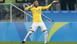 内马尔传射建功巴西2-0哥伦比亚 四强迎战洪都拉斯