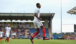 2017U21欧青赛预选赛英格兰6-1挪威 拉什福德帽子戏法
