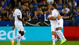 欧冠布鲁日0-3莱斯特城 马赫雷斯梅开二度