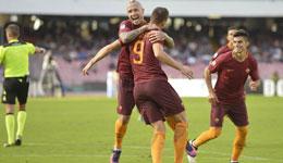 罗马客3-1那不勒斯 哲科两球萨拉赫破门