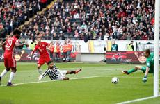 德甲赛程拜仁VS法兰克福 拜仁客场2:2憾平