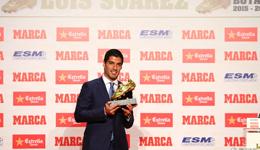 苏亚雷斯进球数 苏神第二次获得欧洲金靴奖