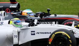 马萨与阿隆索正赛碰撞引发事故 赛后两人各执一词