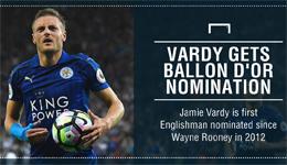 金球奖2016提名 瓦尔迪成英格兰4年首次入选