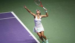 WTA总决赛科贝尔迎来三连胜 科贝尔携手齐娃出现