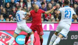 拜仁慕尼黑1-1霍芬海姆 祖贝尔进球难救主