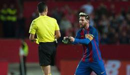 塞维利亚vs巴塞罗那 巴萨宣布上诉梅西黄牌