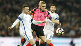 世预赛欧洲区英格兰3-0苏格兰 卡希尔锁定胜局