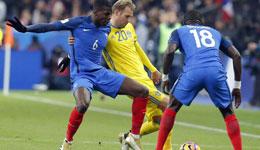 世预赛欧洲区法国2-1瑞典 博格巴破门建功