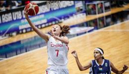 U18亚青赛女篮狂胜印度 七人得分上双赢76分