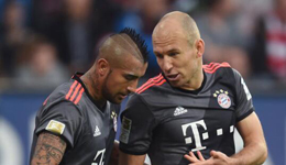 拜仁伤病名单再度增加 罗本比达尔缺阵欧冠
