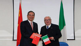 中国足球和意大利足球合作 蔡振华会见意足协主席