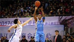 CBA常规赛北京VS肯帝亚 北京输球止步两连胜