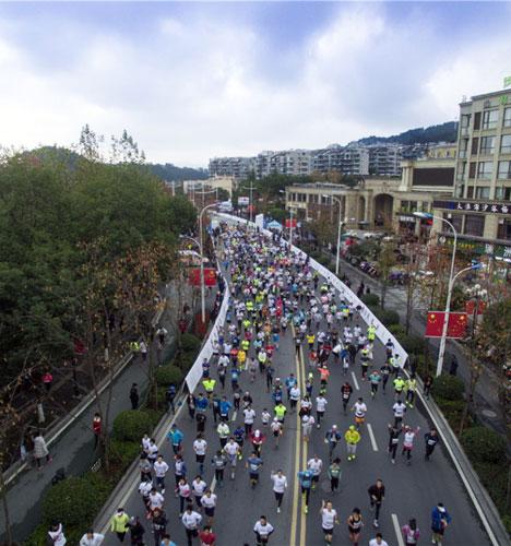 2016千岛湖马拉松赛 参赛者享尽