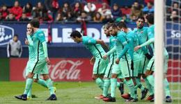 梅西进球集锦 梅西双响巴萨客3-0奥萨苏纳