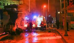贝西克塔斯主场疑爆炸 现场成废墟致13伤亡