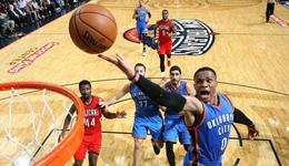 NBA常规赛雷霆vs鹈鹕 雷霆威少暴砍42分大胜鹈鹕