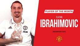 伊布曼联进球数 伊布当选曼联12月最佳球员