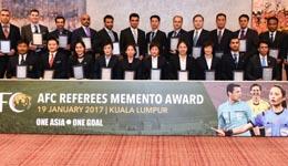 亚足联颁奖给中国裁判 亚冠最新消息