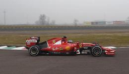 F1法拉利车队第三车手 乔韦纳奇首测法拉利F1赛车