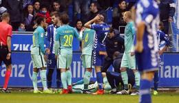 阿拉维斯vs巴塞罗那 比达尔遭断腿伤退五月