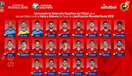 西班牙23人名单 西班牙23人名单2018俄罗斯世界杯