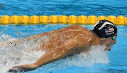 男子200米蝶泳决赛 菲尔普斯成功冲击20金