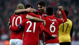 拜仁慕尼黑vs阿森纳 枪手溃败客场1:5拜仁