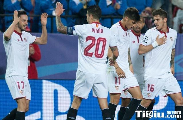 欧冠-塞维利亚2-1胜莱斯特 瓦尔迪破荒难救主
