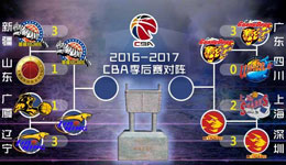 CBA半决赛对阵图 辽宁战新疆广东迎德比